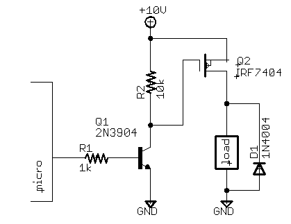 MOSFET SWITCH SCHEMATIC.